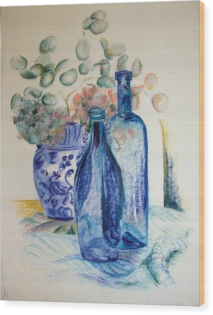 Monnaie Bleue Wood Print by Muriel Dolemieux