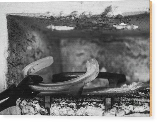 Mono Forge Wood Print