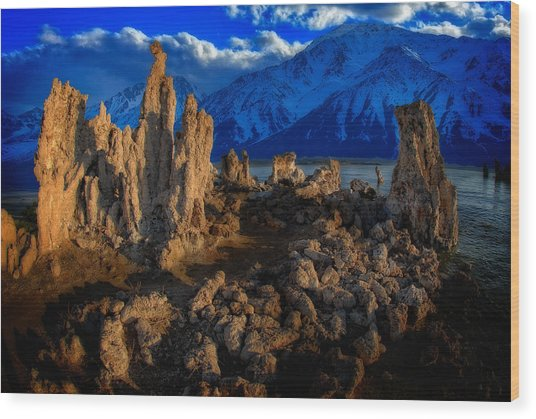 Wood Print featuring the photograph Mono Lake by Harry Spitz