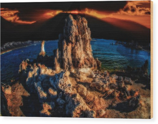 Wood Print featuring the photograph Mono Lake Sunset by Harry Spitz