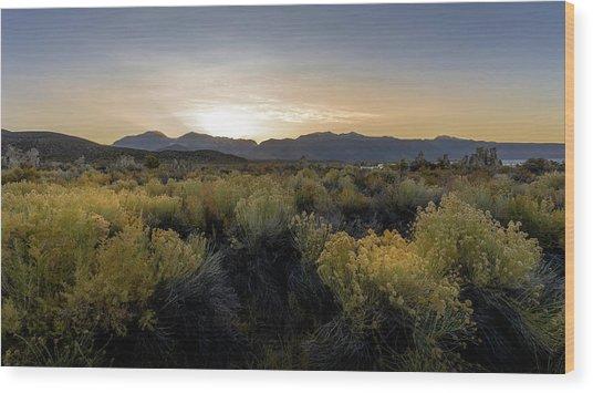Mono Lake Sunset Wood Print by K Pegg