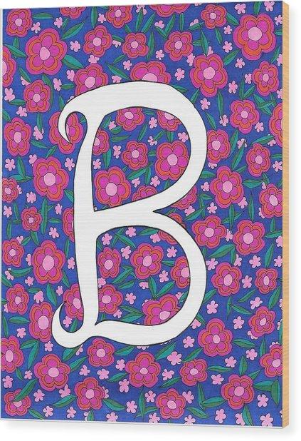 Monogram B Wood Print