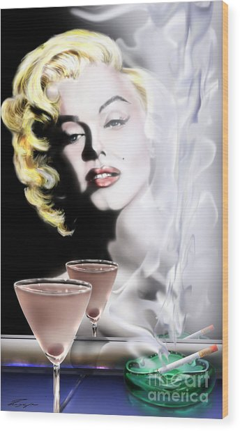 Monroe-seeing Beyond Smoke-n-mirrors Wood Print