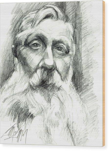 Monsieur Rodin Wood Print by James Simon