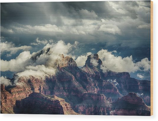 Monsoon Clouds Grand Canyon Wood Print