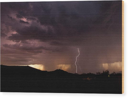 Monsoon Storm Wood Print