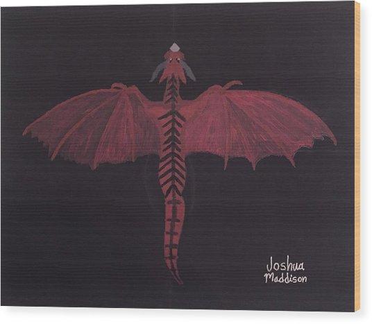 Monsterart Dragonsaurus Wood Print
