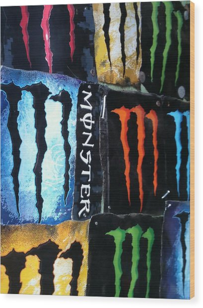 Monster Wood Print
