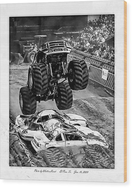 Monster Truck 2b Wood Print