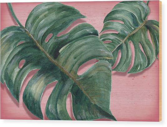 Monstera Leaf  Wood Print