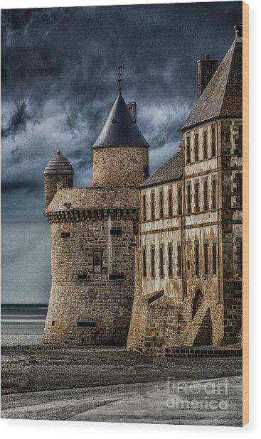 Mont Saint Michel Wood Print by John Karcher
