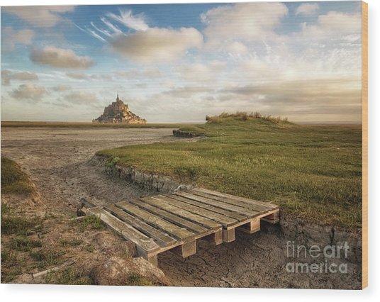 Mont Saint-michel's Bay Wood Print