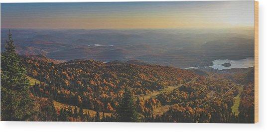 Mont Tremblant Summit Panorama Wood Print