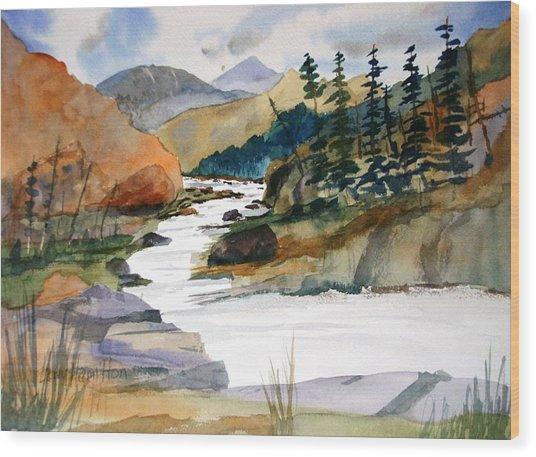 Montana Canyon Wood Print