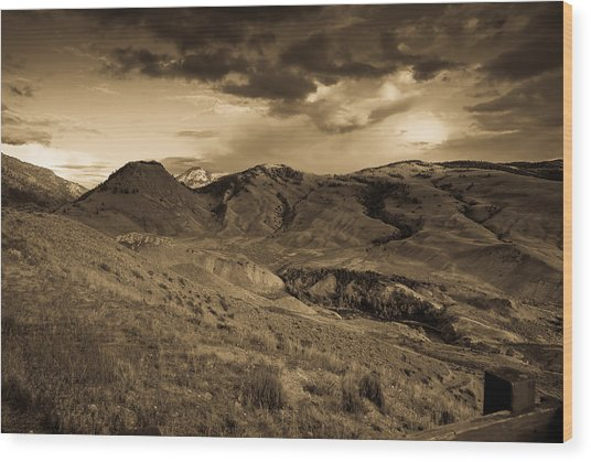Montana Landscape Wood Print by Patrick  Flynn