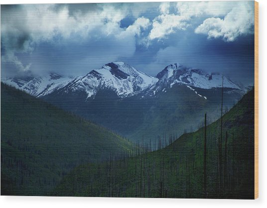Montana Mountain Vista #2 Wood Print