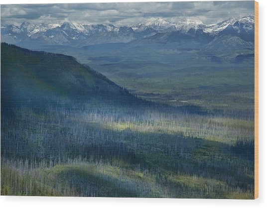 Montana Mountain Vista #3 Wood Print
