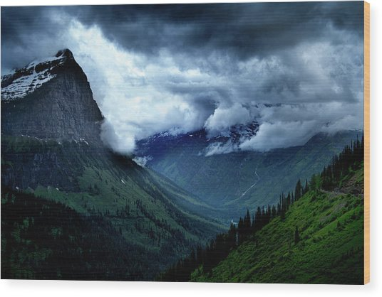 Montana Mountain Vista Wood Print