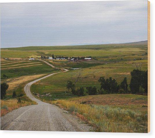 Montana Ranch 3 Wood Print