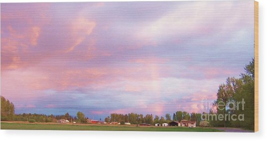 Montana Sunset 1 Wood Print