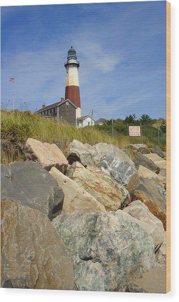 Montauk Lighthouse 2 Wood Print by Michael Simeone
