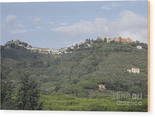 Montecatini Alto Wood Print by Stan and Anne Foster