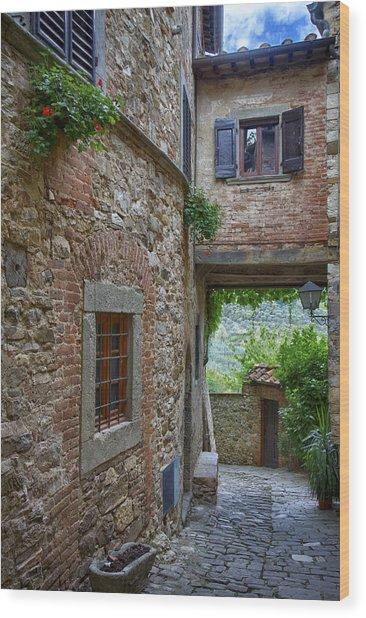Montefioralle Tuscany 2 Wood Print