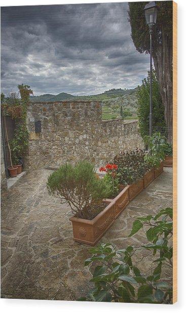 Montefioralle Tuscany 4 Wood Print