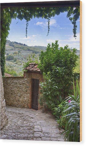Montefioralle, Tuscany Wood Print