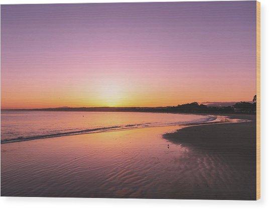 Monterey Beach Wood Print