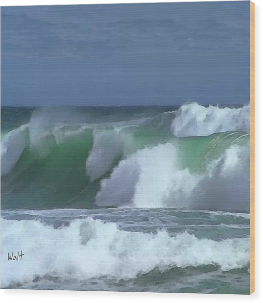 Monterey Surf Wood Print
