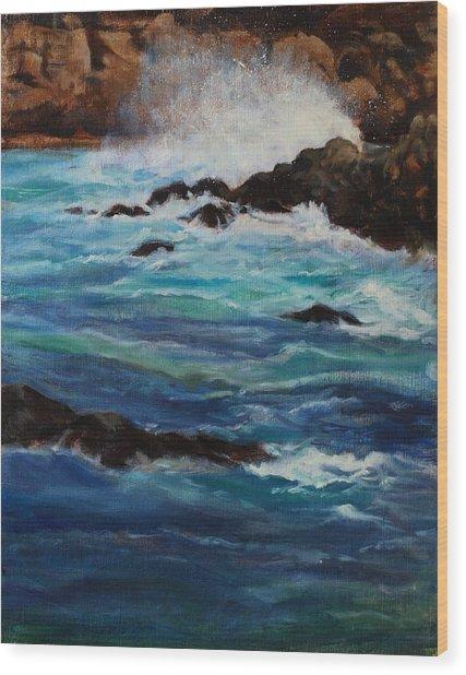 Monterey Wave #2 Wood Print