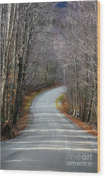 Montgomery Mountain Rd. Wood Print