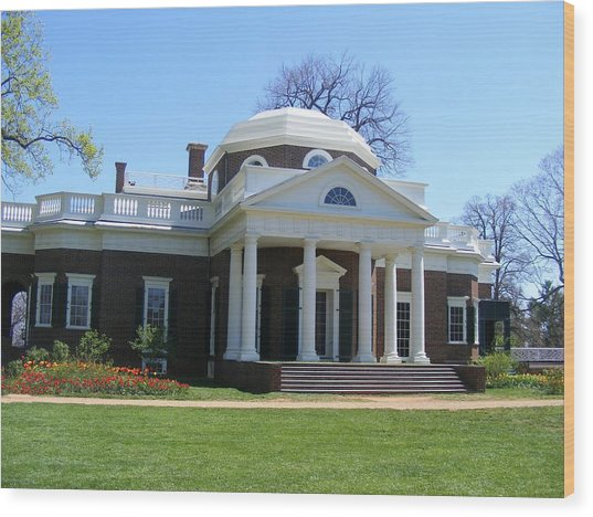 Monticello Wood Print by James and Vickie Rankin