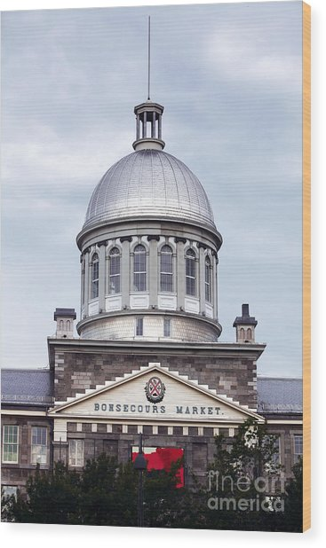 Montreal Bonsecours Market Wood Print by John Rizzuto