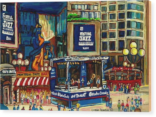 Montreal International Jazz Festival Wood Print