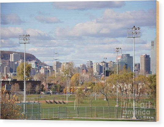 Montreal View From Verdun Wood Print