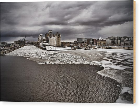 Montreal's Old Port Wood Print by Michel Filion