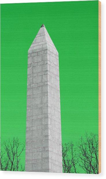 Monument Green Wood Print by Tina B Hamilton