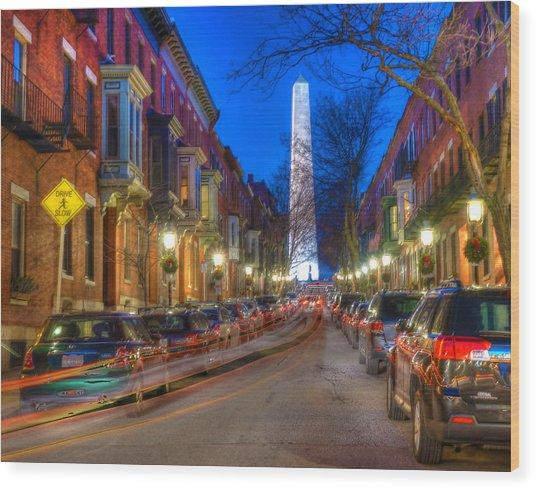 Monument Street Charlestown 023 Wood Print