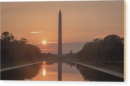 Monument Sunrise Wood Print by Michael Donahue