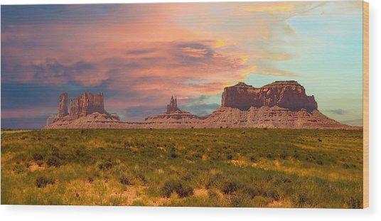Monument Valley Landscape Vista Wood Print
