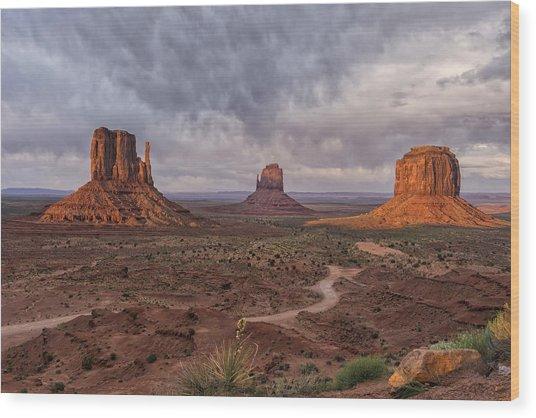Monument Valley Mittens Az Dsc03662 Wood Print