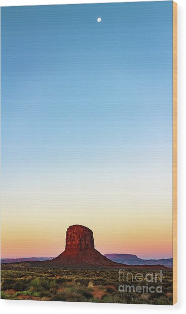 Monument Valley Morning Glory Wood Print