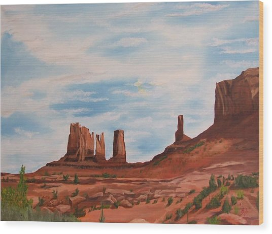 Monument Valley Wood Print by Robert Silvera