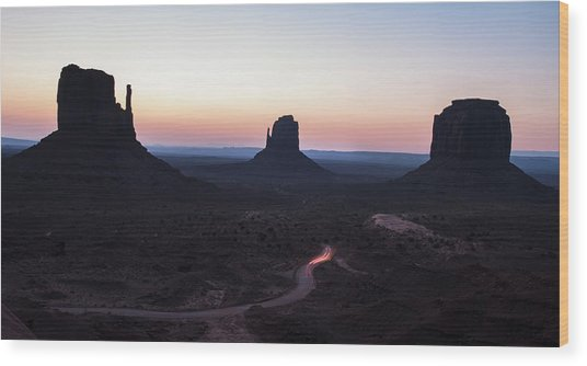 Monument Valley Sunrise Panorama Wood Print
