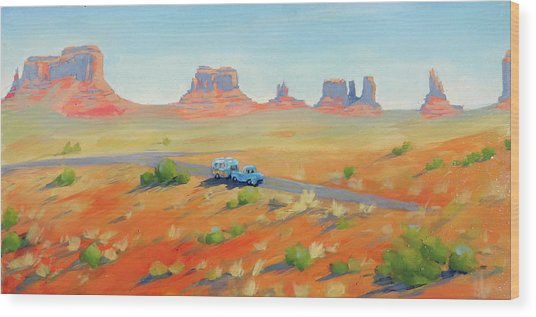 Monument Valley Vintage Wood Print