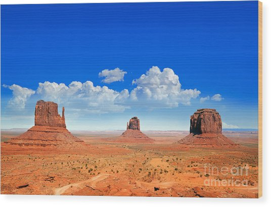 Monument Vally Buttes Wood Print