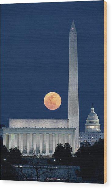 Monumental Moon Wood Print