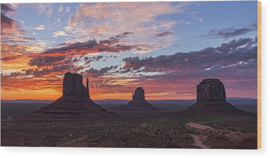 Monumental Sunrise Wood Print